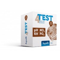Aquili Test 4 in 1 pH - KH - NO3 - PO4  a reagenti per acqua dolce  e...