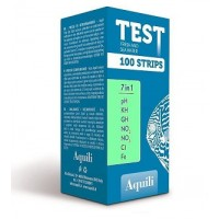 Aquili Test 7 in 1 - 100 Strisce - FRESH WATER - pH - KH - GH - NO2 -...