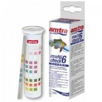 Amtra Multicheck - Test 6 in 1 - 50 Strisce - pH - KH - GH - NO2 - NO3 -...