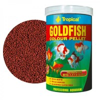Tropical GOLDFISH COLOUR PELLET gr.36/ml.100 mangime in granuli per...