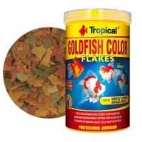 Tropical GOLDFISH COLOR Flakes gr.50/ml.250 mangime in scaglie per pesci...