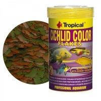 Tropical CICHLID COLOR Flakes 250ml/50gr - mangime in fiocchi per ciclidi